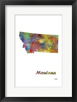 Framed Montana State Map 1