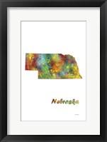 Framed Nebraska  State Map 1