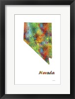 Framed Nevada State Map 1