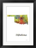 Framed Oklahoma State Map 1
