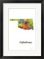 Framed Oklahoma State Map 1