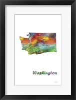 Framed Washington State Map 1