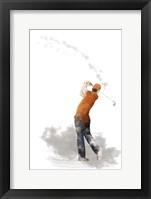 Framed Golf Player 1