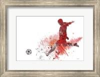 Framed Soccer Player 1