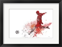 Framed Soccer Player 1