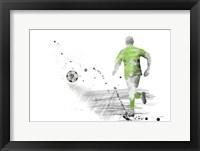 Framed Soccer Player 5