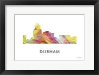 Framed Durham North Carolina Skyline