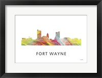 Framed Fort Wayne Indiana Skyline