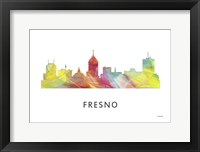 Framed Fresno California Skyline