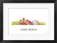 Framed Long Beach California Skyline