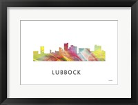 Framed Lubbock Texas Skyline
