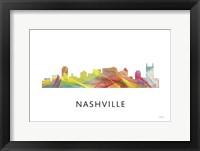 Framed Nashville Tennessee Skyline