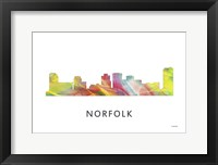 Framed Norfolk Virginia Skyline