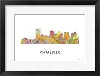 Framed Phoenix Arizona Skyline