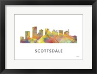 Framed Scottsdale Arizona Skyline