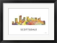 Framed Scottsdale Arizona Skyline