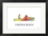 Framed Virginia Beach Virginia Skyline