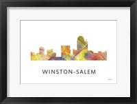Framed Winston-Salem North Carolina Skyline