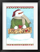 Framed Let It Snow Checked Border