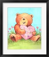 Framed Bear With Heart