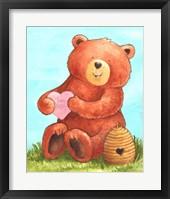 Framed Bee Happy Bear