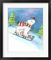 Framed Polar Bear and Sled