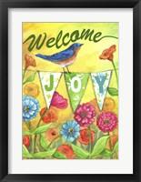 Framed Bluebird Welcome