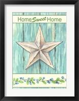 Framed Blue Star Sweet Home