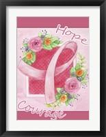 Framed Pink Hope Flower