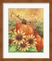 Framed Sunflowers Autumn