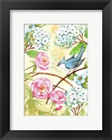 Framed Rose And Bird Joy Each Day 2