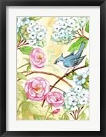 Framed Rose And Bird Joy Each Day 2