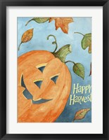 Framed Happy Harvest Pumpkin