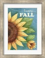 Framed Happy Fall Sunflower