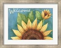 Framed Big Sunflower Welcome