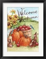 Framed Welcome Autumn Pumpkin