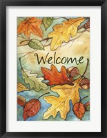 Framed Welcome Leaves