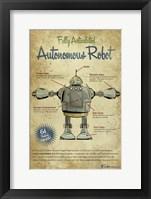 Autonomous Robot Framed Print