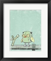 Framed Blue Owl