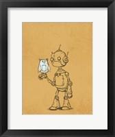 Framed Robot Owl