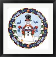 Framed Apple Snowman