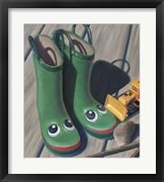 Framed Apple Frog Boots