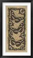 Framed Apple 3 Butterflies