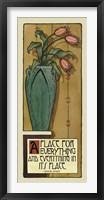 Framed Apple Green Vase