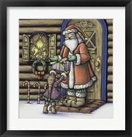 Framed Apple Santa