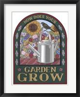 Framed Apple Garden Grow