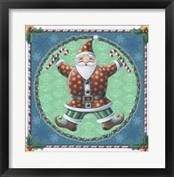 Framed Santa & Snowflakes