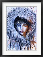 Framed Fire and Ice Girl Portrait