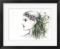 Framed Forest Lover Girl Portrait