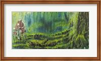 Framed Forest Mushrooms